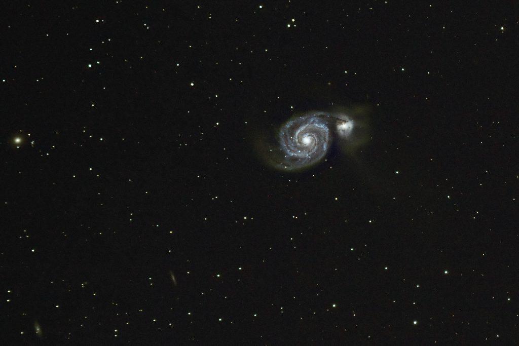 Whirlpool Galaxy (M51) - Photo by Jeffrey Shokler